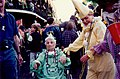 Old style Mardi Gras costumes, French Quarter, 1998.jpg