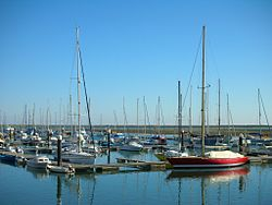 The marina of Olhão, where pleasure boats mix with commercial fishing craft