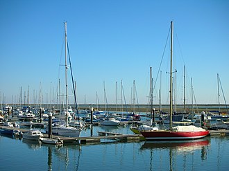 Olhão - The marina of Olhão, where pleasure boats mix with commercial fishing craft