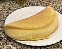 Tortilla de soufflé en un plato