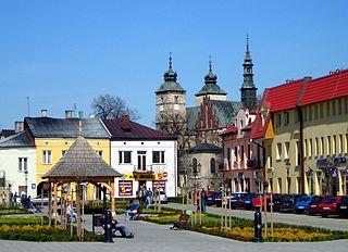 Opatów Place in Świętokrzyskie Voivodeship, Poland