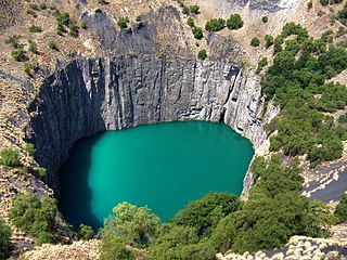 Big Hole open-pit and underground mine in Kimberley, South Africa