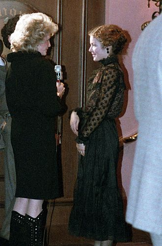 Amy Irving - Irving at the opening night for Heartbreak House, December 1983