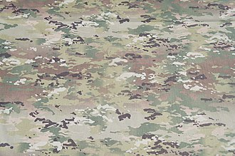 Operational Camouflage Pattern - A swatch of fabric bearing the pattern