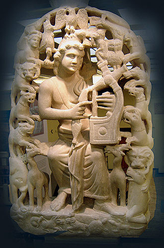 Orpheus - Orpheus with the lyre and surrounded by beasts (Byzantine & Christian Museum, Athens)