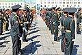 Orkiestra mongolskiej armii na placu Suche Batora w Ułan Bator 12.JPG