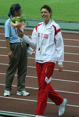 2002 World Junior Championships in Athletics - Blanka Vlašić of Croatia won the high jump.