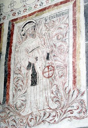 Pilgrim's hat - Image: Othem wall paintings 04