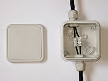electrical wiring wikipedia rh en wikipedia org outdoor telephone wiring junction box