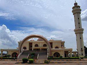 Uganda National Mosque - Image: Outer view Kampala National mosque