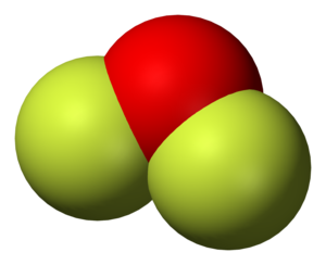 Bent molecular geometry - Oxygen difluoride, an example of a molecule with the bent coordination geometry.