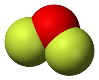 Oxygen difluoride - Image: Oxygen difluoride 3D vd W