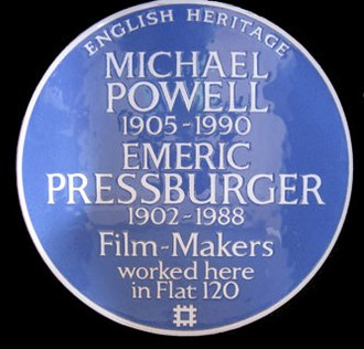 Michael Powell - English Heritage Blue Plaque Dorset House, Gloucester Place, NW1 5AG