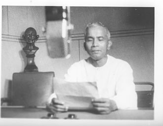 Prafulla Chandra Ghosh - P. C. Ghosh, Member, Congress Working Committee and External Affairs-Premier, West Bengal broadcasting a talk on Indo-Pakistan Agreement from AIR. Calcutta on 26 July 1950.
