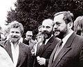 P. Pithart, V. Sedláček, J. Kořán (Roztoky 1990).jpg