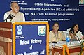 P. R. Kyndiah addressing at the National Workshop of State Governments and Channelising Agencies of National Scheduled Tribes Finance and Development Corporation.jpg