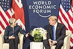 Prime Minister Theresa May met with President Trump while at the World Economic Forum in Davos.