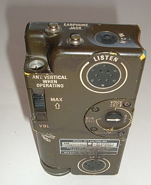 Survival radio - An AN/PRC-90 rescue radio.