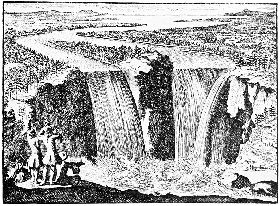 PSM V49 D014 View of niagara falls by father hennepin