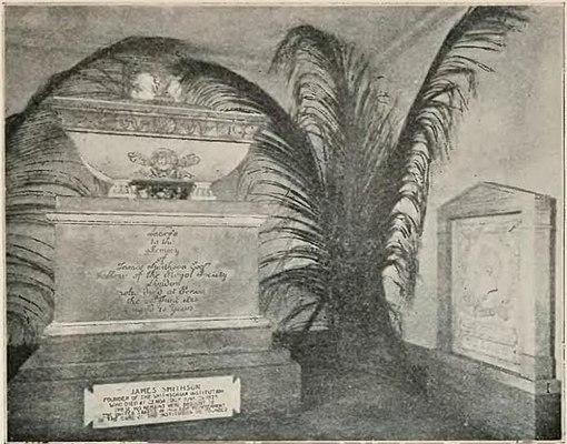 PSM V68 D483-Tomb of james smithson in the smithsonian institution.jpg