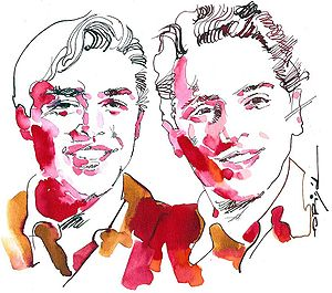 Larry Page - Page and Sergey Brin by Graziano Origa