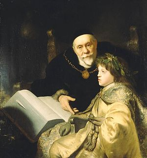 Charles I Louis, Elector Palatine - Charles Louis with his teacher Volrad von Plesse, painting by Jan Lievens, 1631.