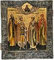Pakhomy, Alexander Nevsky, Dmitry and Mary Magdalene (18th c, priv.coll).jpg