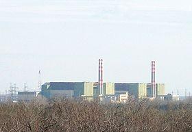 Die Reaktoren 1 bis 4 des Kernkraftwerks Paks