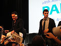 PaleyFest 2011 - Freaks and Geeks-Undeclared Reunion - Jason Segel and John Francis Daley sign for fans (5524464759).jpg
