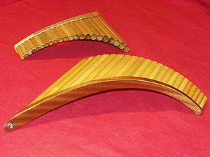 Pan flute - Two Romanian pan flutes