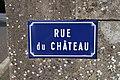 Panneau de la rue du Château (Éduarel, 12 septembre 2017).jpg