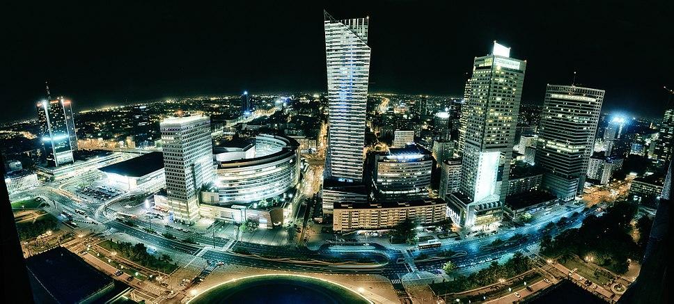 Panorama ul. Emilii Plater w Warszawie radek kołakowski