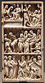 Parigi (forse), valva di dittico con scene della passione di cristo, avorio con tracce di policromia, 1280-1300 ca.jpg