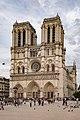 Paris (75004) Cathédrale Notre-Dame - Extérieur - Façade occidentale 02.jpg