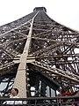 Paris Eiffel Tower second floor view upwards 20080604.jpg