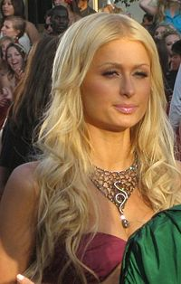 Paris Hilton no MTV Video Music Awards, em 2008.