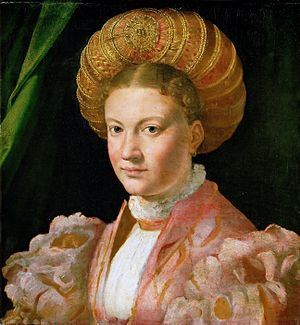 Guimpe - Portrait of Cecilia Gozzadini wearing a guimp, c.1530, by Parmigianino