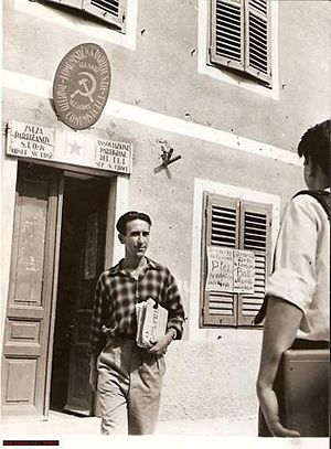 Communist Party of the Free Territory of Trieste - Communist Party F.T.T entrance, Santa Croce's branch.
