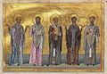 Patrobulus, Hermas, Linus, Caius, Philologus of 70 disciples (Menologion of Basil II).jpg