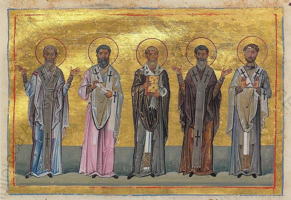 Patrobulus, Hermas, Linus, Caius, Philologus of 70 disciples (Menologion of Basil II)