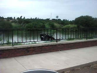 Los Zetas - United States Border Patrol patrolling the Rio Grande in an airboat in Laredo, Texas.