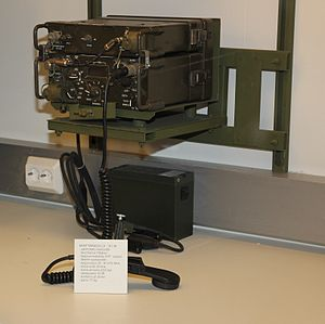 Nokia - LV 317M military radio in Hämeenlinna artillery museum. Nokia license built PRC-77 (-1177?) with signal amplifier.