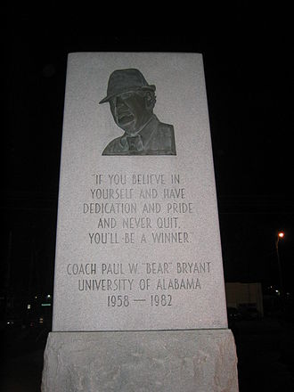1982 NCAA Division I-A football season - Memorial for legendary coach Bear Bryant, who retired after the 1982 season, and died 28 days later.