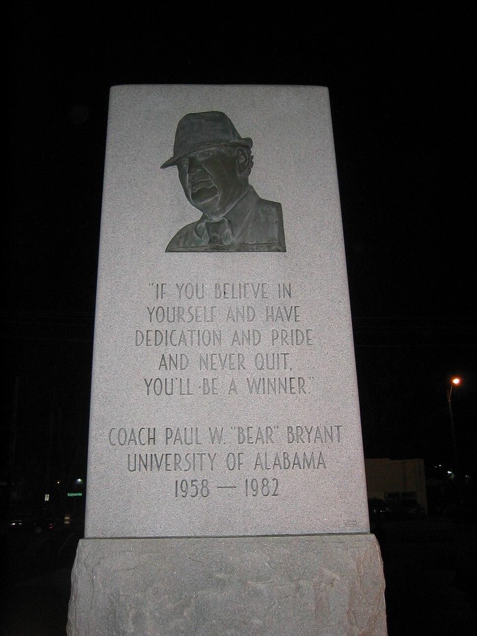 PaulBearBryantMemorial