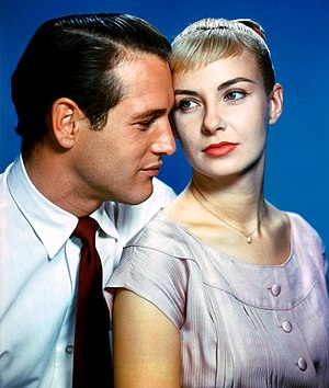 Paul Newman and Joanne Woodward 1958.jpg