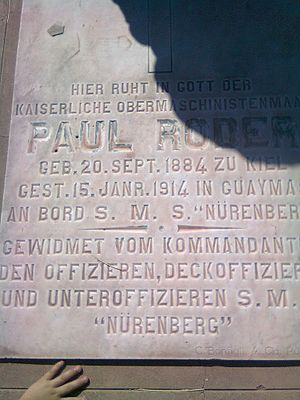 SMS Nürnberg (1906) - A tomb in Guaymas