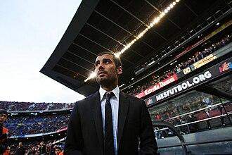 Pep Guardiola - Pep Guardiola managing Barcelona.