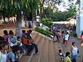 Peregrinos frente al sancuario Tupasy Ykua en Caacupé.jpg