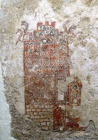 Qaryat al-Faw - Image: Pergamon Museum Wandmalerei 1