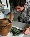 Peter examining the hoard (2).jpg